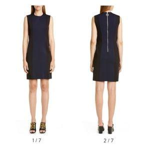 Givenchy Two-Tone Punto Milano Dress $1860 Medium